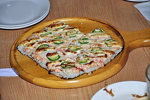 Sushi pizza - Image: Sushi Pizza from Shokudo