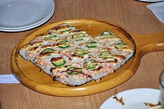 Sushi pizza - Image: Sushi Pizza from Shokudo