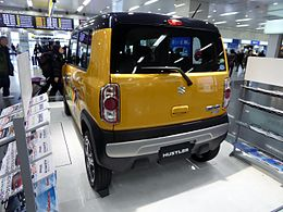 Suzuki HUSTLER X Turbo 4WD (DAA-MR41S) rear.JPG