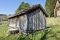 Sverresborg Trøndelag Folkemuseum cultural history open-air museum Trondheim Norway 2019-04-26 Haltdalen stavkirke Stave church (1170s) Lafta hus (small log house) 06101.jpg