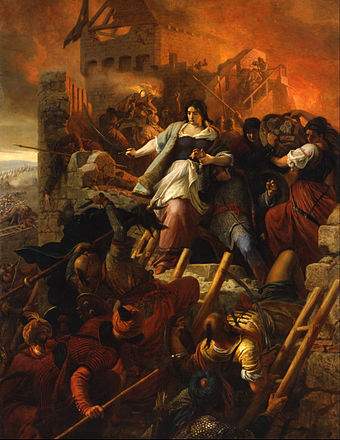 Painting commemorating the Siege of Eger, a major victory against the Ottomans Szekely, Bertalan - The Women of Eger - Google Art Project.jpg
