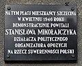 Szczecin tablica Stanislaw Mikolajczyk.jpg