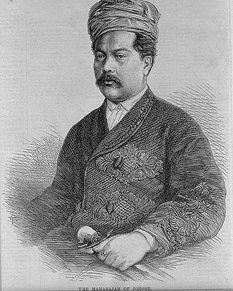 Abu Bakar of Johor - Abu Bakar in 1866.