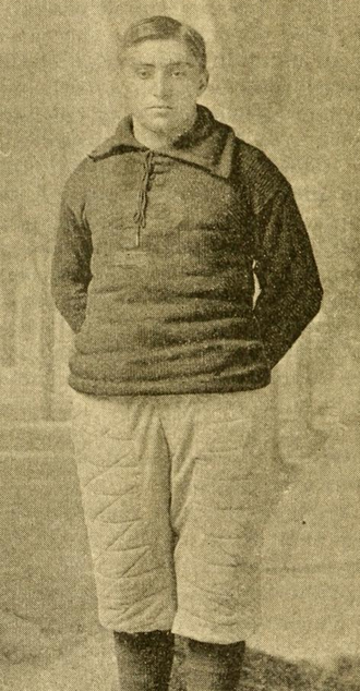 1893 College Football All-America Team - Thomas Trenchard of Princeton.