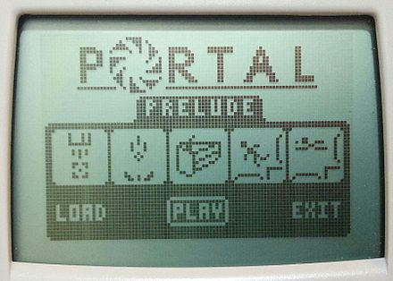 A fan-made game similar to the game Portal TI-84 Portal.jpg
