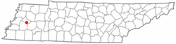 Location of Bells, Tennessee