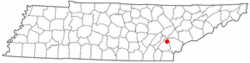 Location of Niota, Tennessee