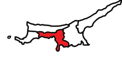 Location of ضلع لیفکوسا Lefkoşa District