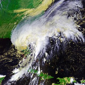 Hurricane Gabrielle (2001) - Tropical Storm Gabrielle over Florida on September 14