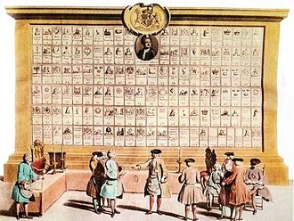 Premier Grand Lodge of England - Table of lodges affiliated to the Grand Lodge, 1735