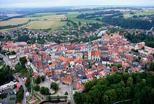 Tabor CZ aerial old town from north B1.jpg