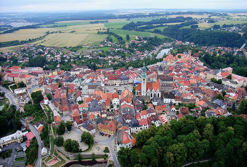 Súbor:Tabor CZ aerial old town from north B1.jpg