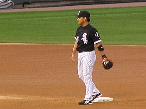 Tadahito Iguchi - Iguchi playing second base for the White Sox in 2006.