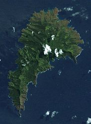 A satellite image of Tahuata