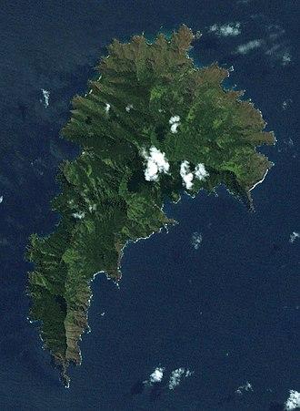Tahuata - A satellite image of Tahuata