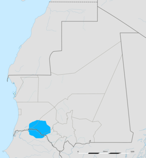 Tamazight Zenaga language in Senegal and Mauritania.png