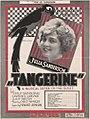 Tangerine A Musical Satire sheet music 1921.jpg