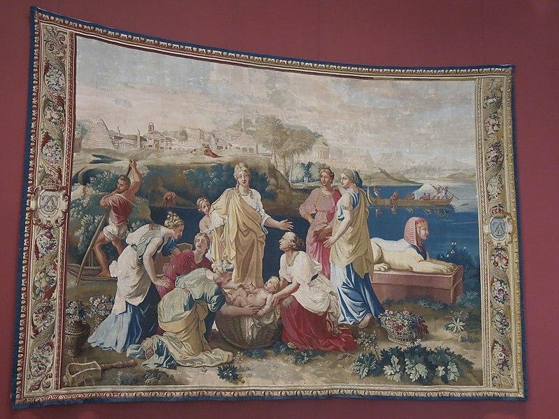 File:Tapisserie Moïse sauvé des eaux (Louvre, OA 5705).jpg
