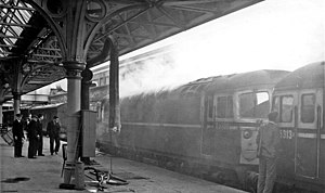 Dundee railway station - Atmospheric view in 1966