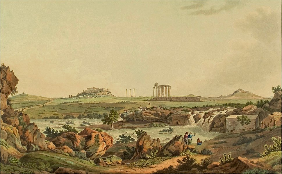Temple of Iupiter Olympios in Athens (1821)