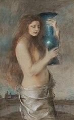 Dziewczyna z niebieskim wazonem (Łzy)