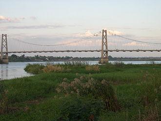 Tete, Mozambique - One-kilometre-long suspension bridge over the Zambezi River