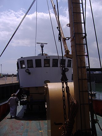 Mincarlo (trawler) - Image: The Bridge, Trawler Mincarlo, Lowestoft, 13th June 2009 (15)