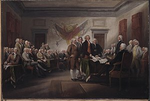 "English: ""The Declaration of Independence..."