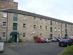 Edinburgh and Dalkeith Railway - The goods warehouse building at St. Leonards