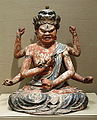 The Esoteric Buddhist king of passion Ragaraja (Aizen Myoo), Japan, Edo period, 1600-1700 AD, gilding and colors on wood - Asian Art Museum of San Francisco - DSC01516.JPG