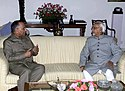 The Governor of Himachal Pradesh, Justice (Retd.) Shri V.S.Kokje called on the Vice President, Mohammad Hamid Ansari in New Delhi on April 23, 2008.jpg