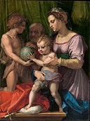 The Holy Family with the Young Saint John the Baptist, by Andrea del Sarto, MET DP295025, edited.jpg