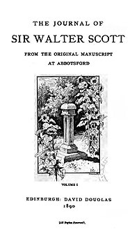 The Journal of Sir Walter Scott cover