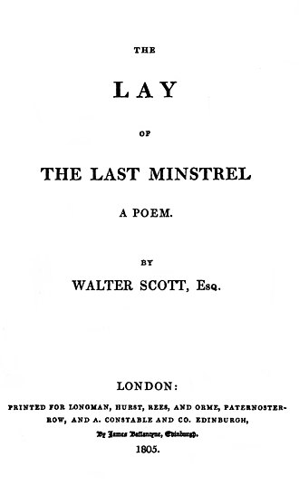 The Lay of the Last Minstrel - First edition title page