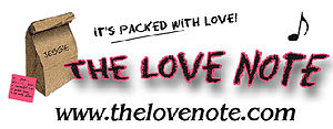 English: The Love Note Musical Graphic