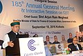 The Minister of State for Finance and Corporate Affairs, Shri Arjun Ram Meghwal addressing at the inauguration of the 185th Annual General Meeting of Calcutta Chamber of Commerce and Interactive Session on GST, in Kolkata.jpg