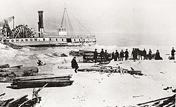 The Monarch stranded off the Island, Toronto, 1856