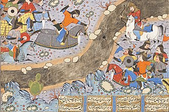Bahram Chobin - Bahram Chobin fighting Sasanian loyalists near Ctesiphon.