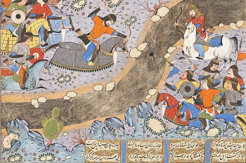 File:The Night Attack of Bahram Chubina on the Army of Khusraw Parvis LACMA M.2009.44.3 (2 of 8).jpg
