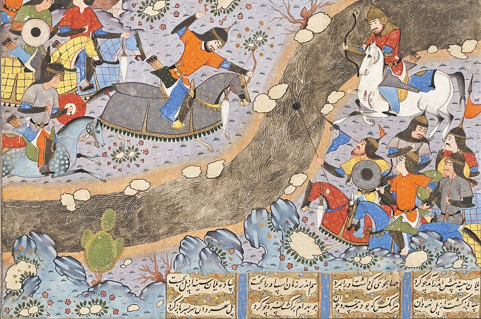 The Night Attack of Bahram Chubina on the Army of Khusraw Parvis LACMA M.2009.44.3 (2 of 8)