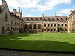 Pembroke College, the buildings surrounding Old Court (except the Chapel and Cloister) and Ivy Court