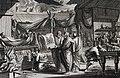 The Phillip Medhurst Picture Torah 472. Building the ark of the covenant. Exodus cap 37. Mortier.jpg