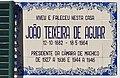 The Plaque on the house measure Machico Joao Teixeira de Aguiar. Madeira, Portugal.jpg