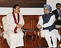 The Prime Minister, Dr. Manmohan Singh meeting the President of the Democratic Socialist Republic of Sri Lanka, Mr. Mahinda Rajapaksa, in New Delhi on September 20, 2012.jpg