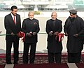 The Prime Minister, Shri Narendra Modi and the President of Afghanistan, Dr. Mohammad Ashraf Ghani cutting the ribbon of newly built Parliament Complex of Afghanistan, in Kabul on December 25, 2015.jpg