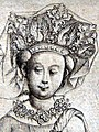 The Queen of Flowers MET Master Playing Cards-Queen of flowers.-detail headpg.jpg