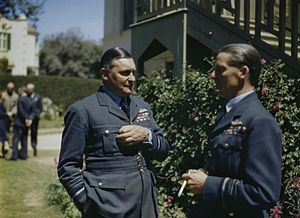 Sholto Douglas, 1st Baron Douglas of Kirtleside - Air Chief Marshal Sir William Sholto Douglas, Air Officer Commanding-in-Chief, RAF Middle East Command (left) with Air Officer Commanding Malta, Air Vice Marshal Sir Keith Park in the garden at HQ, Malta