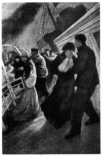 "Sinking of the RMS Titanic - ""The Sad Parting"", illustration of 1912"