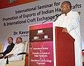 The Union Minister for Textiles, Dr. Kavuru Sambasiva Rao addressing the International Seminar for Promotion of Exports of Indian Handicrafts & International Craft Exchange Programme, in New Delhi on September 18, 2013.jpg