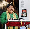 The Union Minister for Tribal Affairs, Shri Jual Oram addressing at the launch of 'Tribes India' e-commerce portal, M-commerce app and Tribes India banners on AmazonSnapdealPaytmGeM, in New Delhi on March 27, 2018.jpg